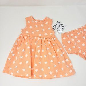 Focus Kids Star Print Dress and Diaper Cover
